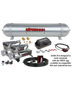Airmaxxx Chrome 580 Dual Compressor Pack and Air Lift 3S Manifold (app only)