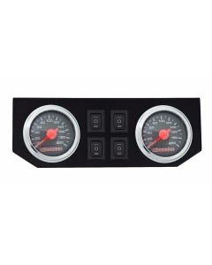 airmaxxx Dual Needle Air Ride Suspension Black Gauges, Display Panel & 4 Rocker Switches