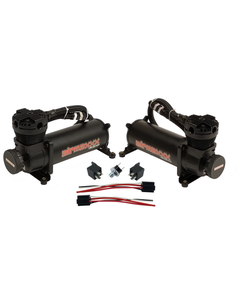 480 Black Air Compressors, Wiring Kit & Unfinished 5 Gallon Seamless Aluminum Air Tank