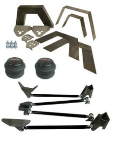 "Rear Universal Weld on Kit 8"" Frame Notch Triangulated 4 Link airmaxxx 2600 Bag"