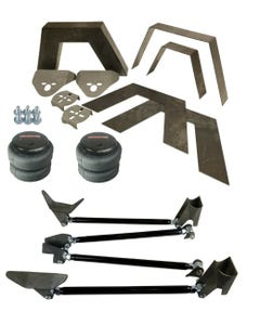 "Rear Universal Weld on Kit 8"" Frame Notch Triangulated 4 Link airmaxxx 2500 Bag"