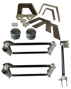 "Rear Universal Weld on Kit 8"" Frame Notch Parallel 4 Link airmaxxx 2500 Bag Bar"