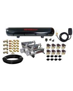 Airmaxxx Air Management - 580 Dual Compressors, 5 Gallon Steel Tank, 7 Switch