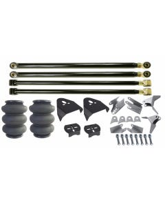 Triangulated Rear 4 Link Suspension Kit, Triple Bellow 2600 Air Bags & Over Axle Bag Brackets