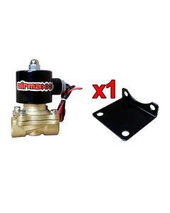 "AirMaxxx 3/8"" Brass Valves W/ Bracket"