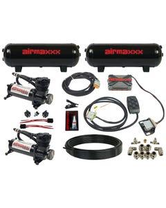 airmaxxx 480 black air compressors, steel tanks, X4 valve manifold & 7 switch box