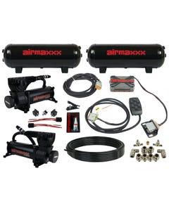airmaxxx 580 black air compressors, steel tanks, X4 valve manifold & 7 switch box