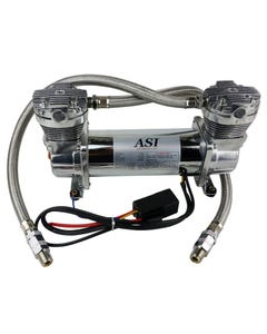 ASI Hydra Air Compressor Dual Head Chrome