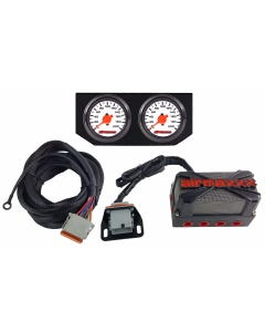 airmaxxx X4 Solenoid Valve Air Manifold, Wiring Harness, Dual Needle White Face Gauges & Display Panel