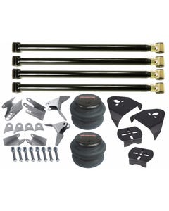airmaxxx Triangulated Rear 4 Link Suspension Kit, 2600 Air Bags & Over Axle Bag Brackets