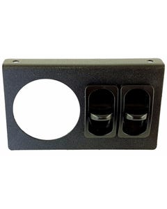 Single Air Ride Suspension Gauge Mounting Panel & 2 Paddle Switches