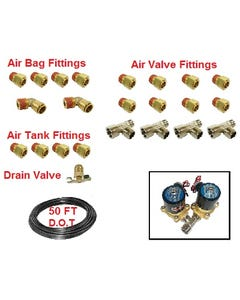 """1/2"""" Dot Airhose and Brass Push-To-Connect Air Fittings (Default)"""