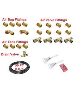 """3/8"""" Dot Airhose and Brass Push-To-Connect Air Fittings"""