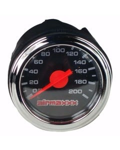 "Air Gauge Single Needle 200psi Air Ride Suspension System Part 2"" Black Face LED"