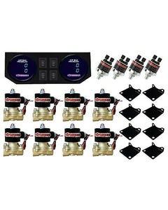 "Air Ride Suspension 1/2""npt Brass Valves Dual Digital Gauges Panel & 4 Switches"