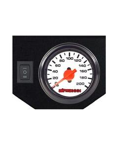 Air Ride Suspension Single Needle White Gauge 200 psi, Panel & 1 Rocker Switch airmaxxx