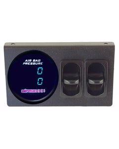 Air Gauge Dual Digital 200 psi Display Panel Two Paddle Switches Air Suspension