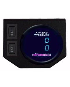 Air Gauge 200psi Dual Digital Display Panel 2 Switch Air Ride Suspension Control