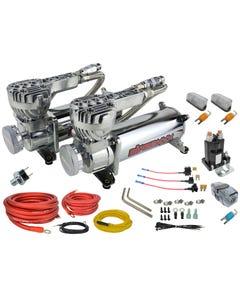 airmaxxx 580 chrome air compressor dual pack & wiring kit