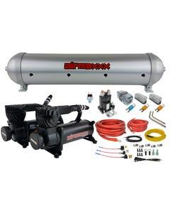 580 Black Air Compressors, Wiring Kit & Brushed 5 Gallon Seamless Aluminum Air Tank