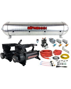 580 Black Air Compressors, Wiring Kit & Unfinished 5 Gallon Seamless Aluminum Air Tank