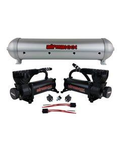 airmaxxx 580 Black Air Compressors & Brushed 5 Gallon Spun Aluminum Air Tank