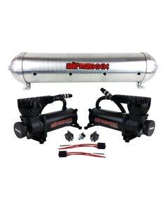 airmaxxx 580 Black Air Compressors & Raw 5 Gallon Spun Aluminum Air Tank