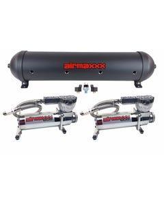 airmaxxx 580 Chrome Air Compressors & Black 5 Gallon Spun Aluminum Air Tank