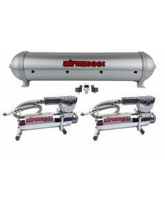 airmaxxx 580 Chrome Air Compressors & Brushed 5 Gallon Spun Aluminum Air Tank