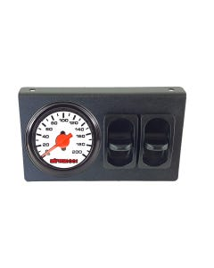 airmaxxx Air Ride Suspension Dual Needle White Gauge, Panel & 2 Paddle Switches