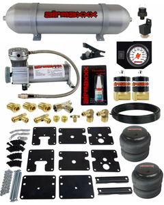 Air Tow Assist Kit No Drill 99-06 Chevy Silverado 1500 Compressor Tank White Gauge