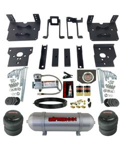 Air Bag Tow Kit Black Control Compressor & Tank For 2011-16 Ford F250 F350 4x4