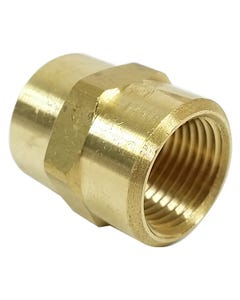 "Straight Male Thread Connector Air Hose Fitting 3/8"" Female NPT x 3/8"" Female NPT"