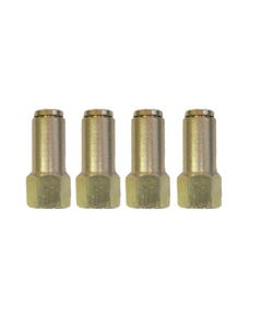 "Air Suspension Fittings (4) Brass 1/8""NPT Female to 1/4"" Air Hose Push In"