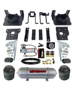 Air Bag Tow Kit Black Controls Compressor & Tank For 2011-16 Ford F250 F350 2wd