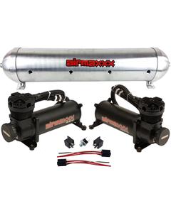 airmaxxx 480 Black Air Compressors & Raw 5 Gallon Spun Aluminum Air Tank