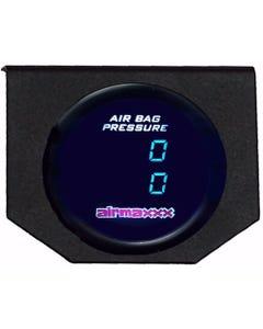 Air Gauge 200 psi Dual Digital Display Panel No Switches Air Ride Suspension