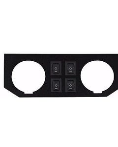 Air Ride Suspension Dual Gauge Panel & 4 Momentary Rocker Switches (no gauges)