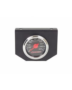 airmaxxx 200psi Single Needle Air Ride Suspension Gauge & Panel, Black Face