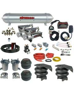 07-18 Chevy 1500 Air Ride Suspension Kit Manifold 580 Dual Compressor Spun Tank