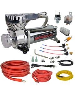 airmaxxx 580 chrome air compressor & wiring kit