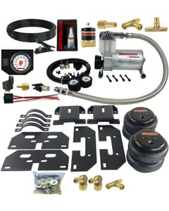 Air Tow Assist Kit White Gauge In Cab Management 2014-2018 Dodge Ram 3500 Truck